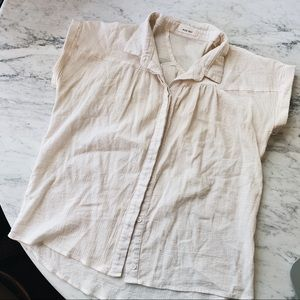 Mod Ref off white button up S